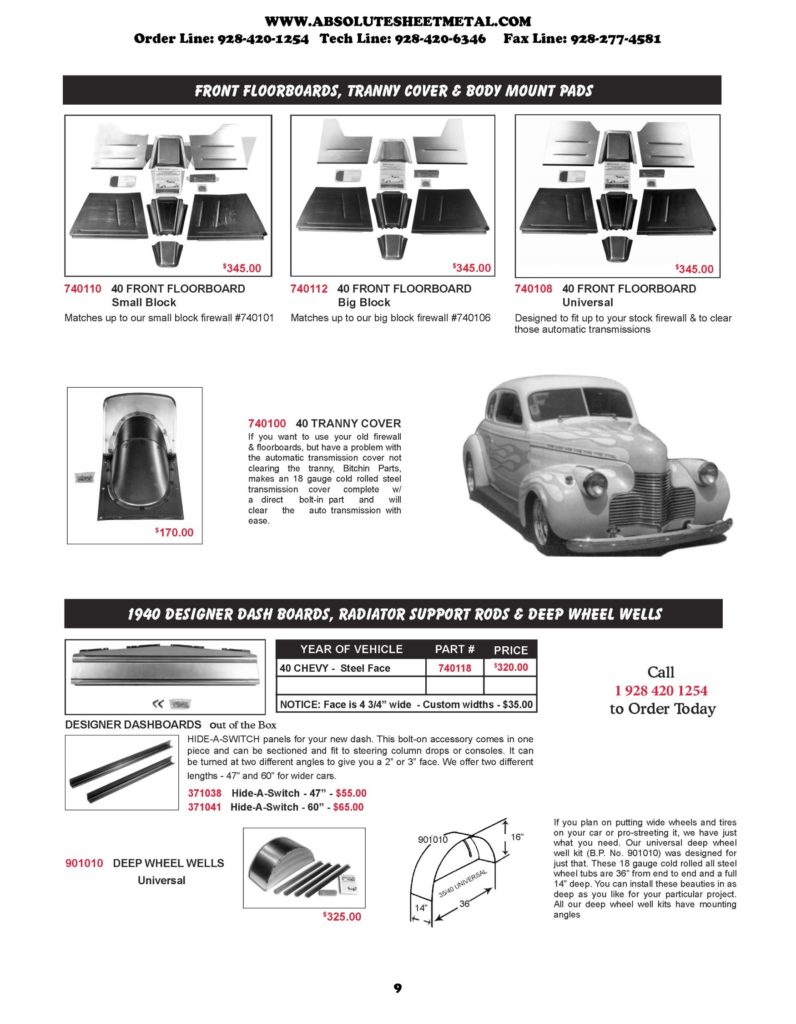 1940 Chevy Cars Absolute Sheet Metal
