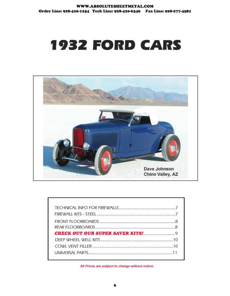Bitchin Parts Absolute Sheet Metal 1932 Ford Cars 2018 Catalog