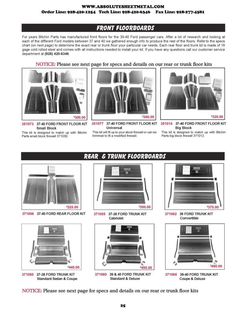 1937-40 Ford Car Parts – Absolute Sheet Metal