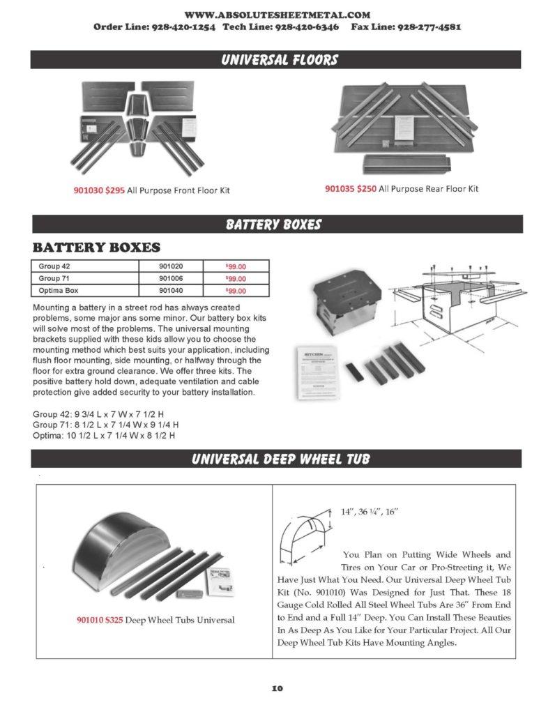 Bitchin Parts Absolute Sheet Metal 1932 - 1934 Ford Trucks universal floors