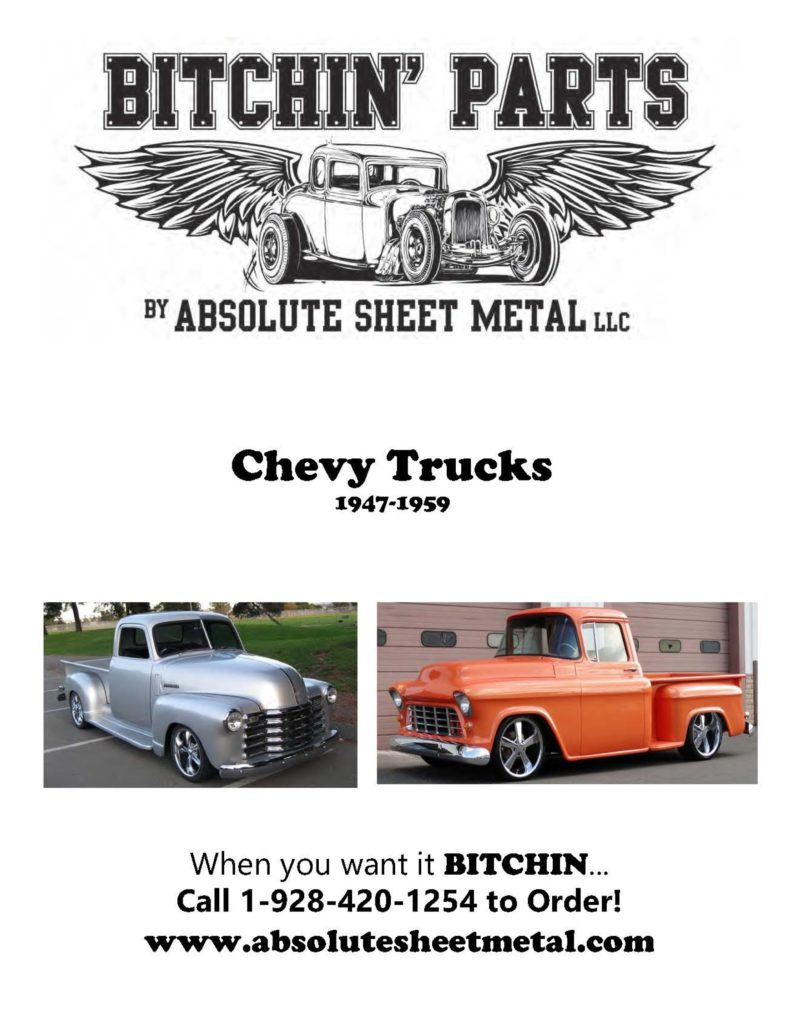 Bitchin Parts Absolute Sheet Metal 1947 - 1959 Chevy Trucks