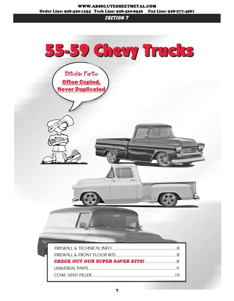 1955 - 1959 absolutely bitchin chevy Trucks parts